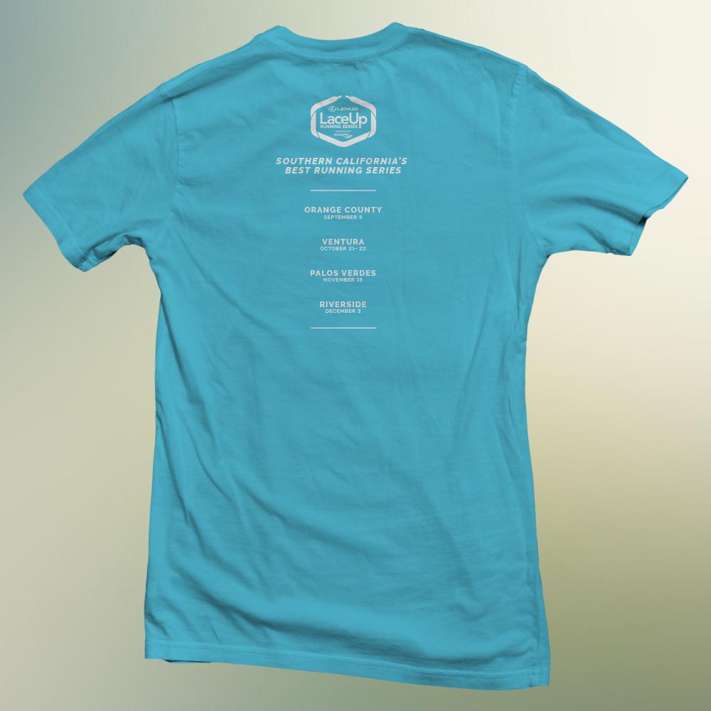 Lexus LaceUp Orange County Team Relay t-shirt design