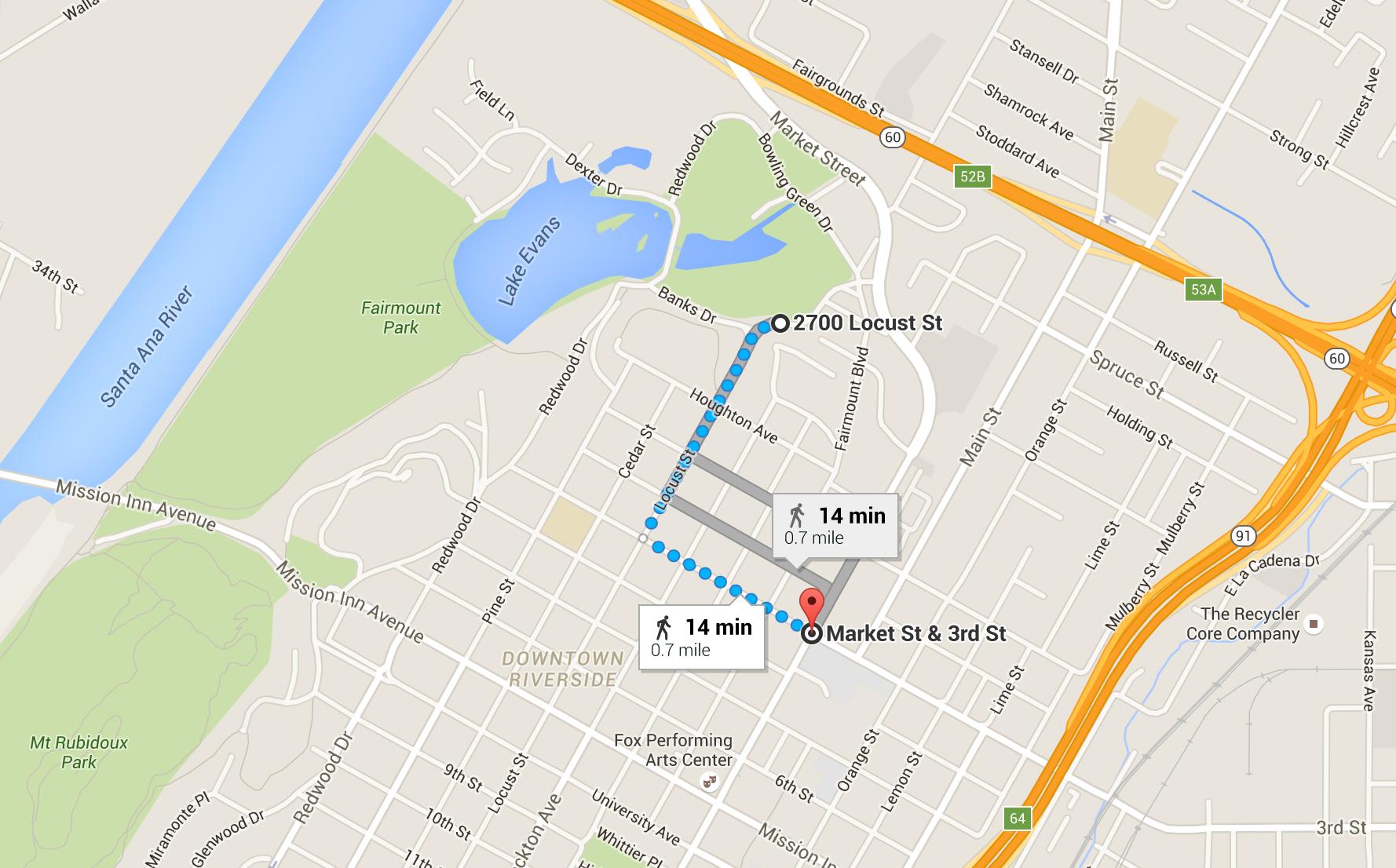 Lexus LaceUp Riverside Parking Map